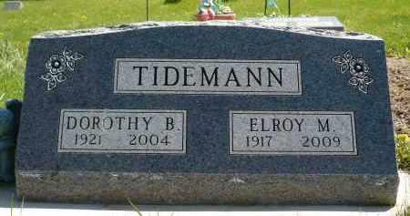 TIDEMANN, DOROTHY B. - Minnehaha County, South Dakota   DOROTHY B. TIDEMANN - South Dakota Gravestone Photos