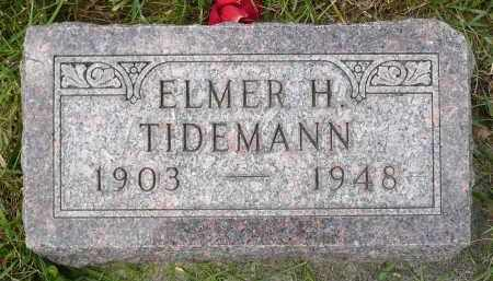 TIDEMANN, ELMER H. - Minnehaha County, South Dakota | ELMER H. TIDEMANN - South Dakota Gravestone Photos
