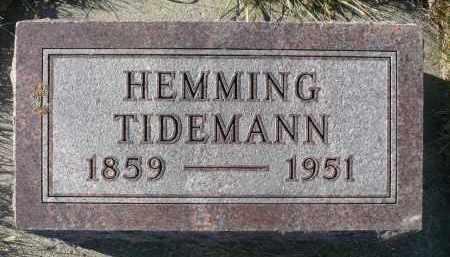 TIDEMANN, HEMMING - Minnehaha County, South Dakota | HEMMING TIDEMANN - South Dakota Gravestone Photos