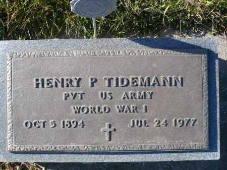 TIDEMANN, HENRY P. - Minnehaha County, South Dakota   HENRY P. TIDEMANN - South Dakota Gravestone Photos
