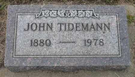 TIDEMANN, JOHN - Minnehaha County, South Dakota | JOHN TIDEMANN - South Dakota Gravestone Photos