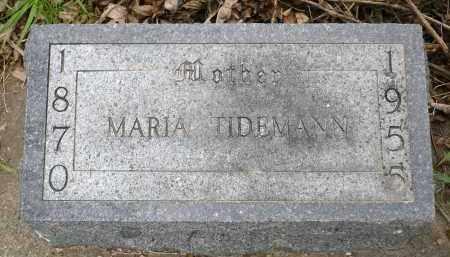 TIDEMANN, MARIA - Minnehaha County, South Dakota | MARIA TIDEMANN - South Dakota Gravestone Photos