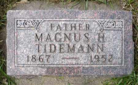 TIDEMANN, MAGNUS H. - Minnehaha County, South Dakota   MAGNUS H. TIDEMANN - South Dakota Gravestone Photos