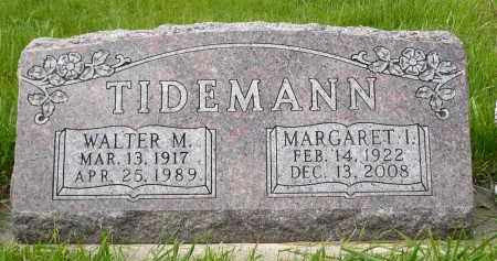 TIDEMANN, WALTER M. - Minnehaha County, South Dakota | WALTER M. TIDEMANN - South Dakota Gravestone Photos