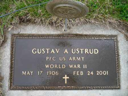 USTRUD, GUSTAV A. (WWII) - Minnehaha County, South Dakota | GUSTAV A. (WWII) USTRUD - South Dakota Gravestone Photos