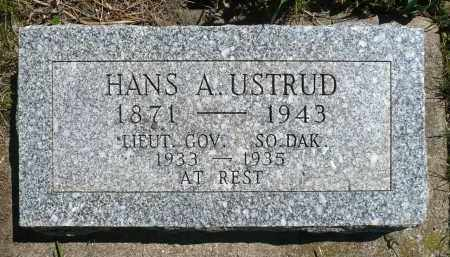 USTRUD, HANS A. - Minnehaha County, South Dakota   HANS A. USTRUD - South Dakota Gravestone Photos
