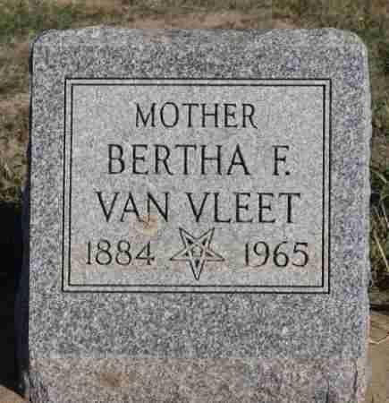 VAN VLEET, BERTHA F - Minnehaha County, South Dakota | BERTHA F VAN VLEET - South Dakota Gravestone Photos