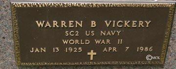 VICKERY, WARREN B. - Minnehaha County, South Dakota | WARREN B. VICKERY - South Dakota Gravestone Photos