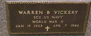 VICKERY, WARREN B. (WWII) - Minnehaha County, South Dakota | WARREN B. (WWII) VICKERY - South Dakota Gravestone Photos