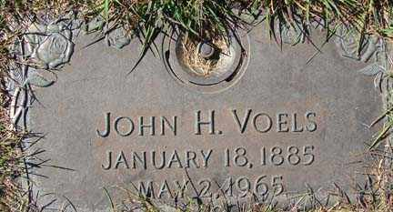 VOELS, JOHN H. - Minnehaha County, South Dakota | JOHN H. VOELS - South Dakota Gravestone Photos