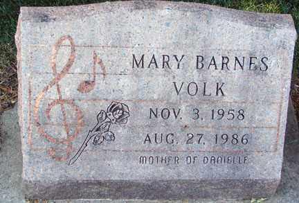 BARNES VOLK, MARY - Minnehaha County, South Dakota   MARY BARNES VOLK - South Dakota Gravestone Photos