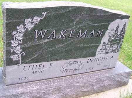 ARNO WAKEMAN, ETHEL F. - Minnehaha County, South Dakota | ETHEL F. ARNO WAKEMAN - South Dakota Gravestone Photos