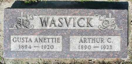 WASVICK, ARTHUR C. - Minnehaha County, South Dakota | ARTHUR C. WASVICK - South Dakota Gravestone Photos