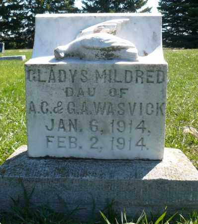 WASVICK, GLADYS MILDRED - Minnehaha County, South Dakota | GLADYS MILDRED WASVICK - South Dakota Gravestone Photos