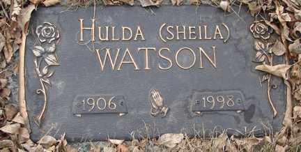 WATSON, HULDA (SHEILA) - Minnehaha County, South Dakota   HULDA (SHEILA) WATSON - South Dakota Gravestone Photos