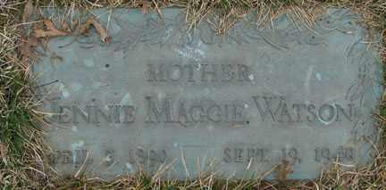 WATSON, JENNIE MAGGIE - Minnehaha County, South Dakota | JENNIE MAGGIE WATSON - South Dakota Gravestone Photos