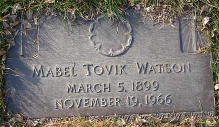 WATSON, MABEL TOVIK - Minnehaha County, South Dakota | MABEL TOVIK WATSON - South Dakota Gravestone Photos