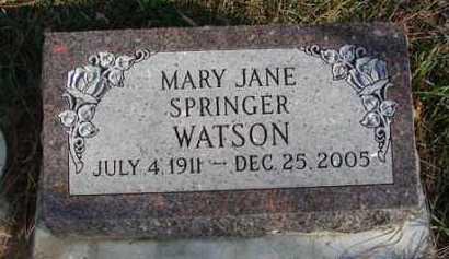 WATSON, MARY JANE - Minnehaha County, South Dakota | MARY JANE WATSON - South Dakota Gravestone Photos
