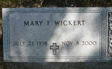 WICKERT, MARY FOLLETTE - Minnehaha County, South Dakota | MARY FOLLETTE WICKERT - South Dakota Gravestone Photos
