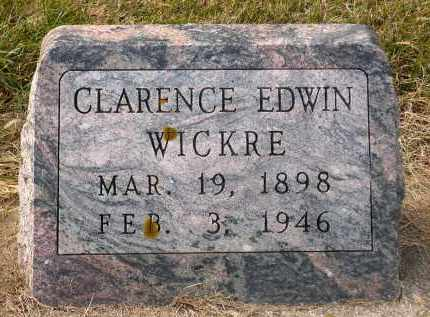 WICKRE, CLARENCE EDWIN - Minnehaha County, South Dakota | CLARENCE EDWIN WICKRE - South Dakota Gravestone Photos