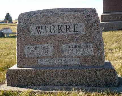 WICKRE, EMILIE - Minnehaha County, South Dakota | EMILIE WICKRE - South Dakota Gravestone Photos
