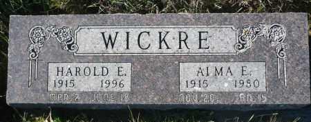 WICKRE, ALMA E. - Minnehaha County, South Dakota | ALMA E. WICKRE - South Dakota Gravestone Photos