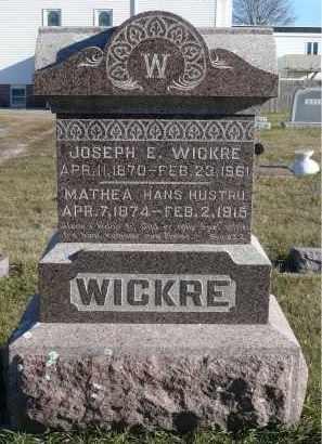 WICKRE, JOSEPH E. - Minnehaha County, South Dakota | JOSEPH E. WICKRE - South Dakota Gravestone Photos