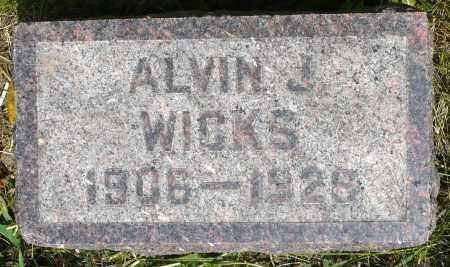 WICKS, ALVIN J. - Minnehaha County, South Dakota | ALVIN J. WICKS - South Dakota Gravestone Photos