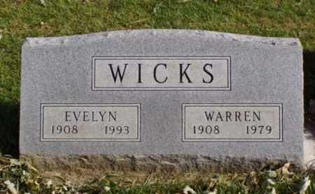 WICKS, WARREN - Minnehaha County, South Dakota | WARREN WICKS - South Dakota Gravestone Photos