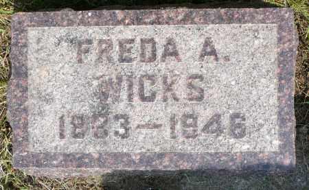 WICKS, FREDA A. - Minnehaha County, South Dakota | FREDA A. WICKS - South Dakota Gravestone Photos