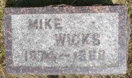 WICKS, MIKE - Minnehaha County, South Dakota | MIKE WICKS - South Dakota Gravestone Photos