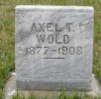 WOLD, AXEL T. - Minnehaha County, South Dakota | AXEL T. WOLD - South Dakota Gravestone Photos