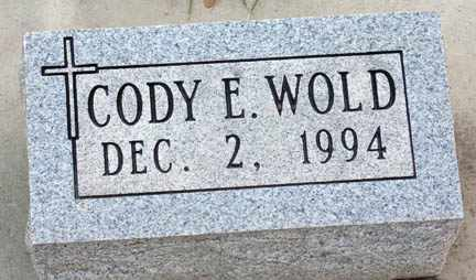 WOLD, CODY ERIC - Minnehaha County, South Dakota | CODY ERIC WOLD - South Dakota Gravestone Photos