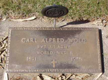 WOLD, CARL ALFRED - Minnehaha County, South Dakota   CARL ALFRED WOLD - South Dakota Gravestone Photos