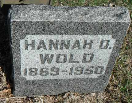 WOLD, HANNAH O. - Minnehaha County, South Dakota | HANNAH O. WOLD - South Dakota Gravestone Photos