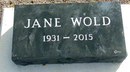 WOLD, JANE - Minnehaha County, South Dakota | JANE WOLD - South Dakota Gravestone Photos