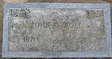 WOLD, JOHN O. - Minnehaha County, South Dakota | JOHN O. WOLD - South Dakota Gravestone Photos