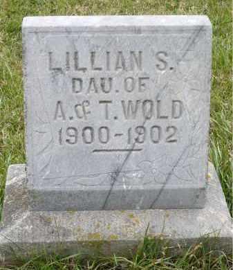 WOLD, LILLIAN S. - Minnehaha County, South Dakota | LILLIAN S. WOLD - South Dakota Gravestone Photos