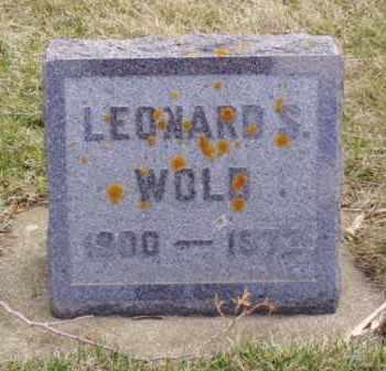 WOLD, LEONARD SEVERT - Minnehaha County, South Dakota   LEONARD SEVERT WOLD - South Dakota Gravestone Photos