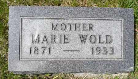 WOLD, MARIE - Minnehaha County, South Dakota | MARIE WOLD - South Dakota Gravestone Photos