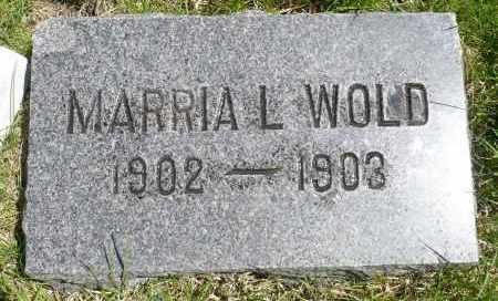 WOLD, MARRIA L. - Minnehaha County, South Dakota | MARRIA L. WOLD - South Dakota Gravestone Photos