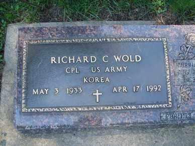 WOLD, RICHARD C. - Minnehaha County, South Dakota | RICHARD C. WOLD - South Dakota Gravestone Photos