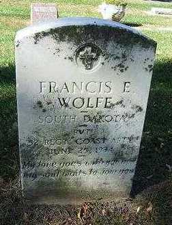 WOLFE, FRANCIS E. - Minnehaha County, South Dakota | FRANCIS E. WOLFE - South Dakota Gravestone Photos