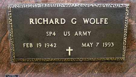 WOLFE, RICHARD G. - Minnehaha County, South Dakota | RICHARD G. WOLFE - South Dakota Gravestone Photos