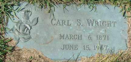 WRIGHT, CARL S. - Minnehaha County, South Dakota | CARL S. WRIGHT - South Dakota Gravestone Photos