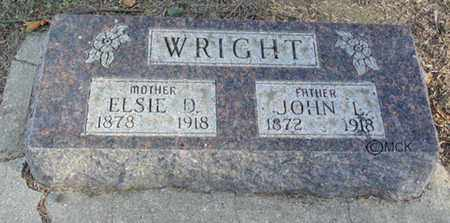 WRIGHT, ELSIE D. - Minnehaha County, South Dakota | ELSIE D. WRIGHT - South Dakota Gravestone Photos