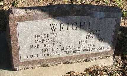 WRIGHT, FRED E. - Minnehaha County, South Dakota | FRED E. WRIGHT - South Dakota Gravestone Photos