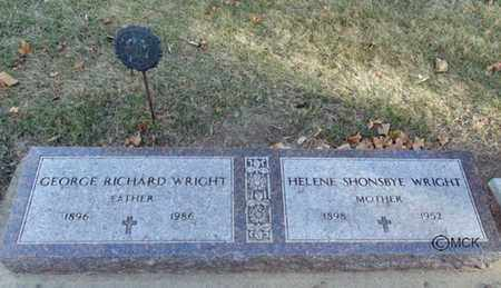 WRIGHT, GEORGE RICHARD - Minnehaha County, South Dakota | GEORGE RICHARD WRIGHT - South Dakota Gravestone Photos