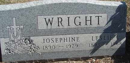 WRIGHT, LESLIE L. - Minnehaha County, South Dakota | LESLIE L. WRIGHT - South Dakota Gravestone Photos
