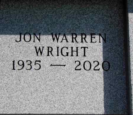 WRIGHT, JON WARREN - Minnehaha County, South Dakota   JON WARREN WRIGHT - South Dakota Gravestone Photos